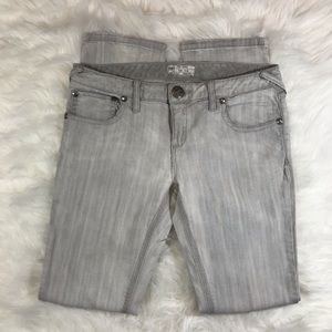 "{Free People} Grey Wash Skinny Jeans 33""x32"""